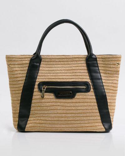 Кожаная сумка через плечо - черная Monnari