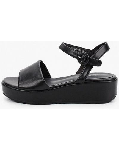 Черные кожаные босоножки Lolli L Polli