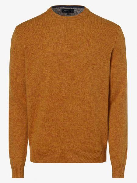Sweter dzianinowy - żółty Andrew James