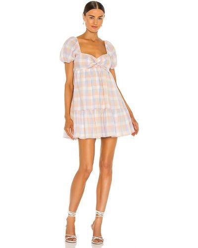 Шелковое платье - синее Amanda Uprichard
