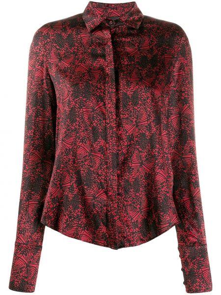 Блузка с длинным рукавом в полоску с воротником-стойкой Federica Tosi
