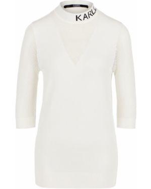 Водолазка белая Karl Lagerfeld