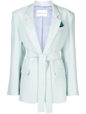 Зеленый классический пиджак с карманами на пуговицах Hebe Studio