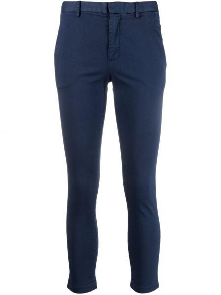 Хлопковые синие укороченные брюки с потайной застежкой ..,merci