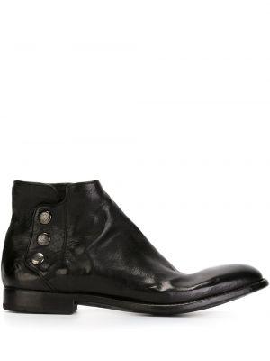 Черные кожаные ботинки Alberto Fasciani
