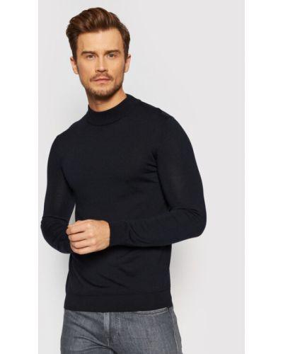 Sweter - granatowy Hugo