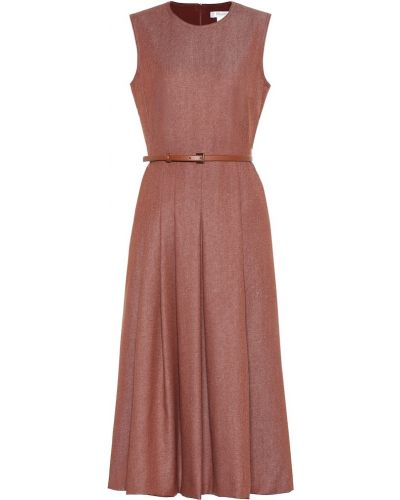 Платье с поясом шерстяное кожаное Max Mara