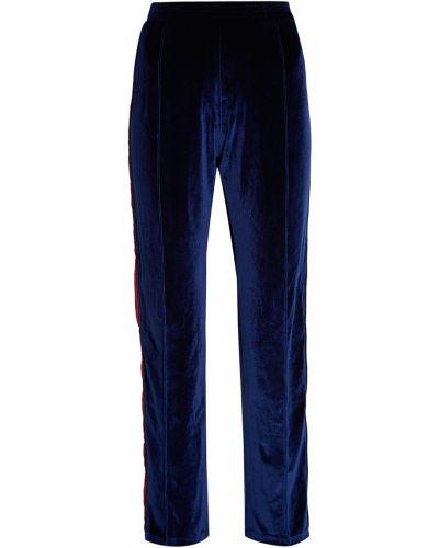 Брюки на резинке - синие Forte Couture