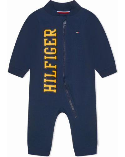 Kombinezon z printem - niebieski Tommy Hilfiger Junior