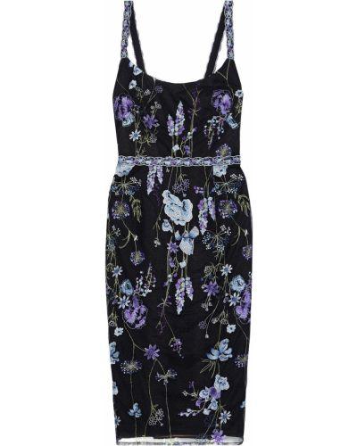 Платье из фатина - черное Marchesa Notte