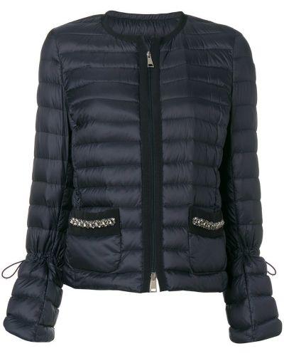 Длинная куртка с карманами на молнии Moncler