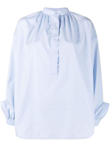 Хлопковая синяя с рукавами рубашка Christian Wijnants