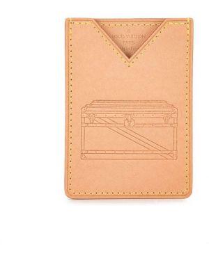 Коричневая кожаная папка Louis Vuitton