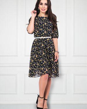 Платье с поясом шифоновое платье-сарафан Bellovera
