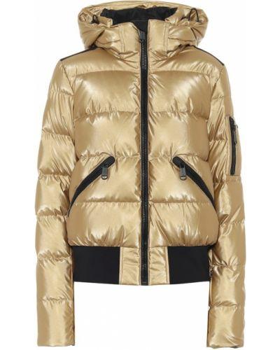 Золотистая пуховая желтая куртка Goldbergh