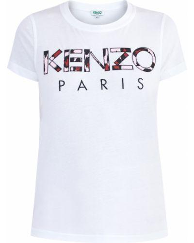 Топ с аппликациями приталенный Kenzo