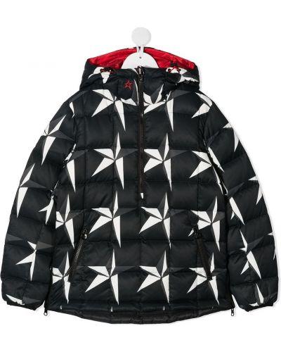 Klasyczna czarna długa kurtka z kapturem Perfect Moment Kids