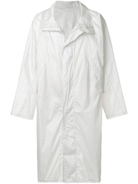 С рукавами прямое белое длинное пальто с карманами Mackintosh 0002