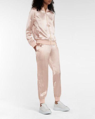 Тренировочный свободный розовый спортивный костюм Fendi