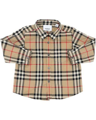 Классическая рубашка на пуговицах из поплина с воротником Burberry