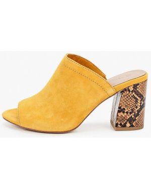 Сабо желтый замшевые Tamaris