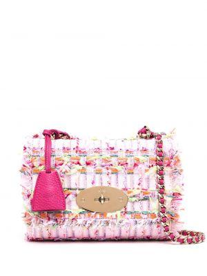 Розовый кожаный топ с карманами Mulberry