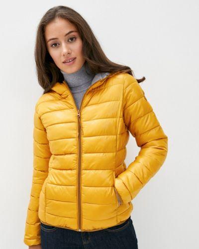 Теплая желтая утепленная куртка Q/s Designed By