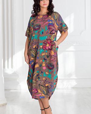 Летнее платье платье-сарафан с цельнокроеным рукавом Filigrana