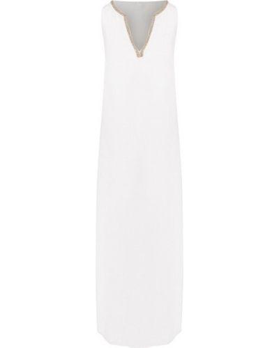 Льняное платье миди - белое 120% Lino