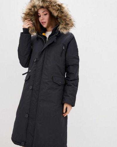 Теплая черная зимняя куртка Airboss