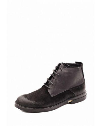 Кожаные ботинки осенние черные My Kos
