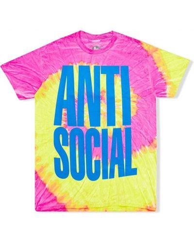 Różowy t-shirt bawełniany krótki rękaw Anti Social Social Club