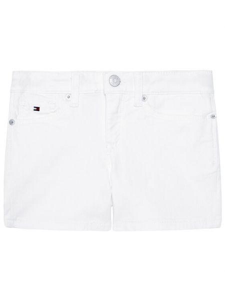 Szorty jeansowe - białe Tommy Hilfiger