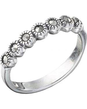 Кольцо с марказитом из серебра марказит