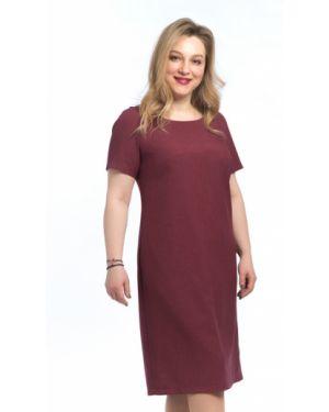 Летнее платье футляр бордовый Modellos