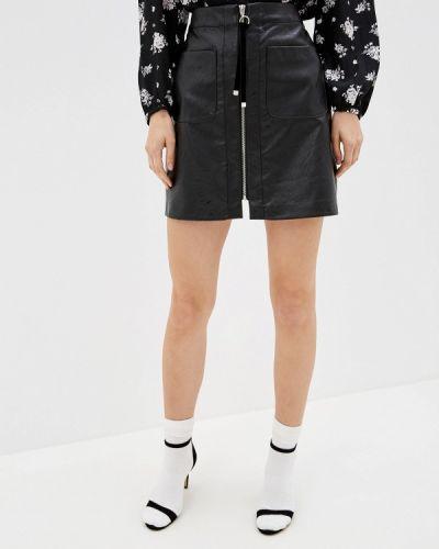 Кожаная юбка черная Befree