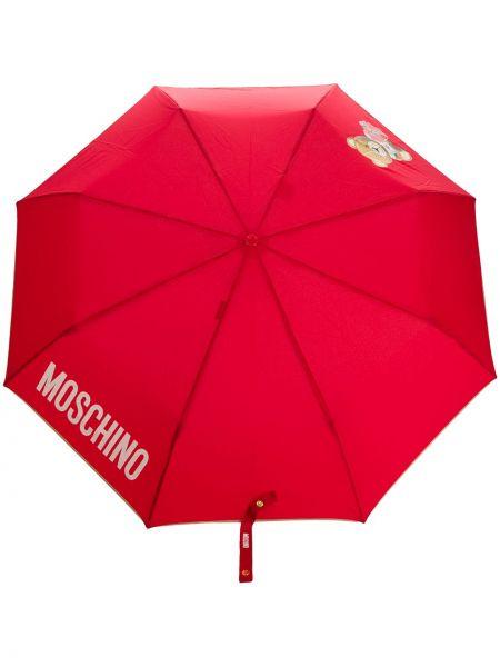Parasol z nadrukiem brązowy Moschino