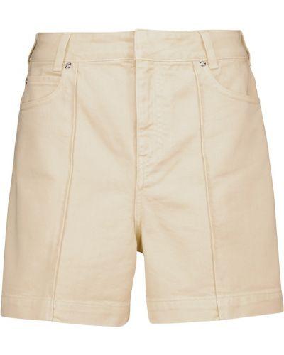 Бежевые хлопковые шорты Victoria Victoria Beckham