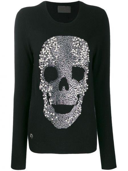 Кашемировый свитер - черный Philipp Plein