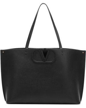Кожаная сумка шоппер среднего размера Valentino Garavani