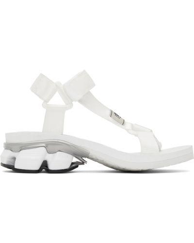 Białe sandały na rzepy Miharayasuhiro