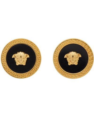 Запонки золотые Versace