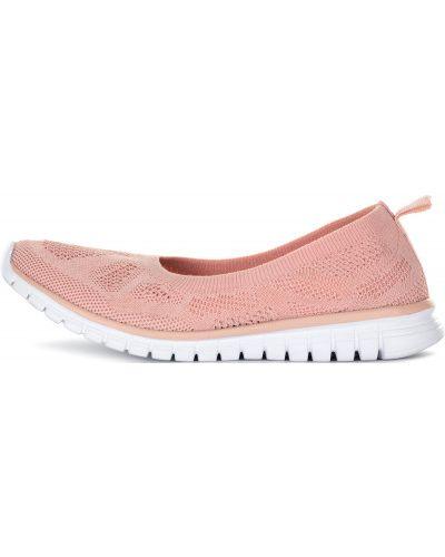 Розовые балетки кожаные Demix