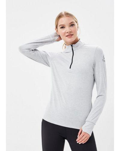 Серый спортивный лонгслив Reebok