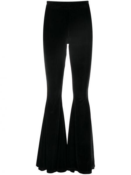 Черные с завышенной талией брюки с поясом Versace Jeans Couture