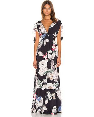 Платье макси с бисером шелковое Maaji