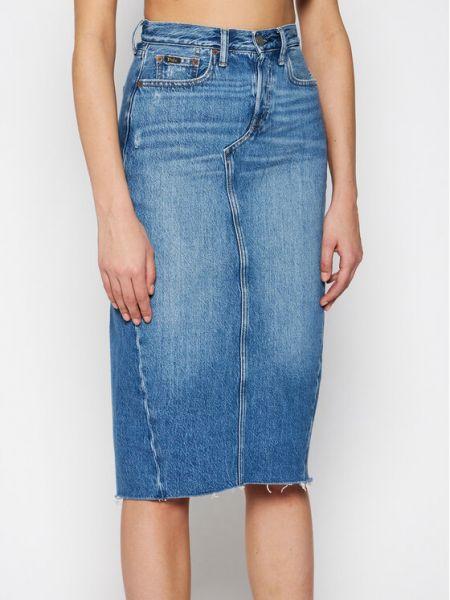 Spódnica jeansowa - niebieska Polo Ralph Lauren