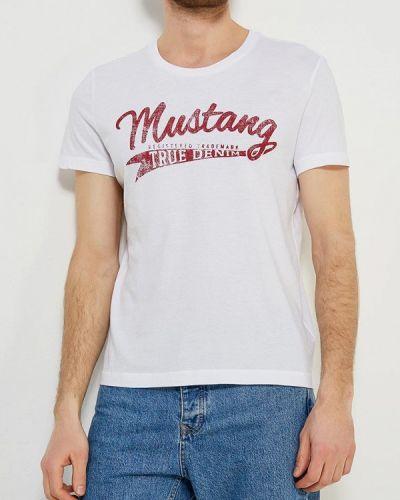 Белая футболка Mustang