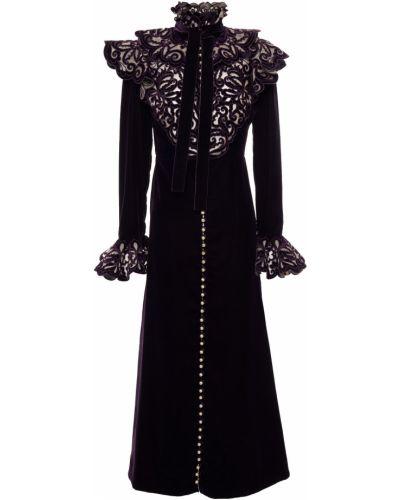 Бархатное платье миди - фиолетовое Zimmermann