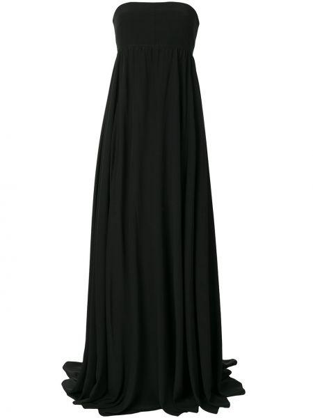 Черное шелковое платье Vera Wang